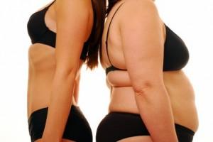 痩せている人と太っている人